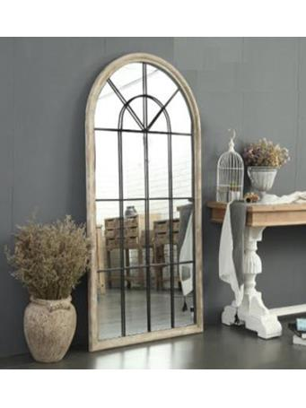 EDEN & WEST - Arched Leaning Pull Length Mirror WHITE