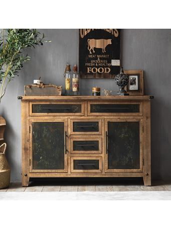 EDEN & WEST - Sideboard with Faux Metal Accents WOOD