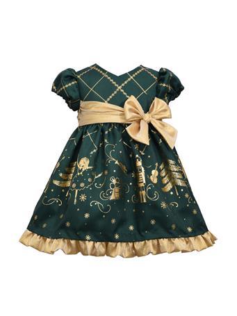 BONNIE JEAN - Crossover Nutcracker Dress GREEN