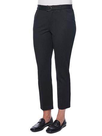 DEMOCRACY - Ab Solution D Ring High Rise Pin Stripe Ponte Trouser BLACK/WHITE