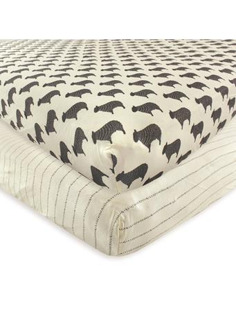HUDSON BABY - Fitted Crib Sheet, 2-Pack, Sheep MULTI