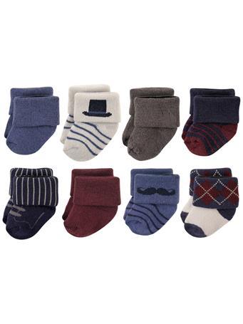 HUDSON BABY - Socks, 8 Pack Mustache MULTI
