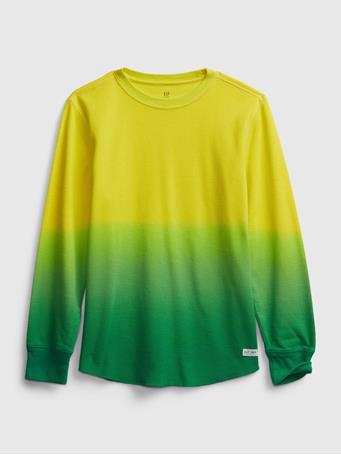 GAP - Kids Waffle-Knit Slub Shirt BRIGHT CITRON