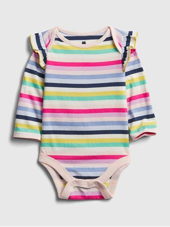 GAP - Baby Mix and Match Ruffle Bodysuit MULTI STRIPE