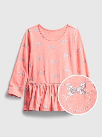 GAP - babyGap | Disney Minnie Mouse Peplum Shirt PINK MINNIE