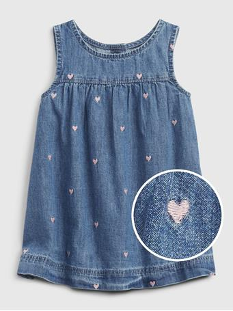 GAP - Baby Denim Jumper Dress LIGHT WASH