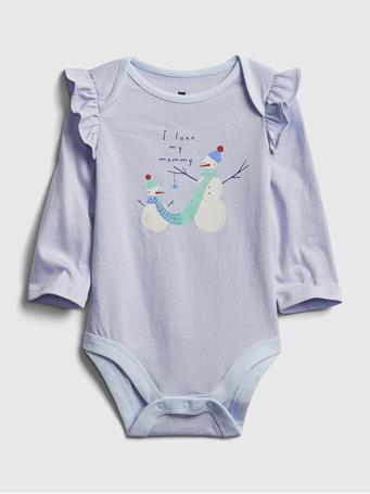 GAP - Baby Mix and Match Ruffle Graphic Bodysuit SUNRISE BLUE