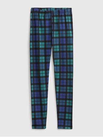 GAP - Kids Print Leggings GREEN PLAID