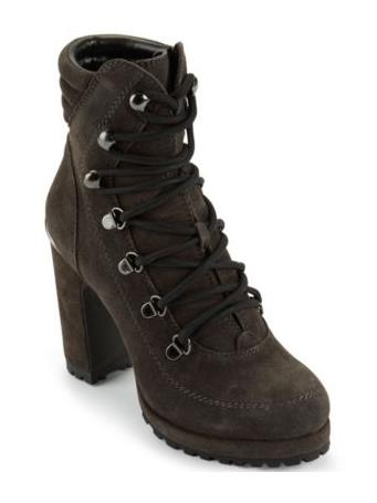 DKNY - Lenni Lace Up Ankle Boot BEIGE