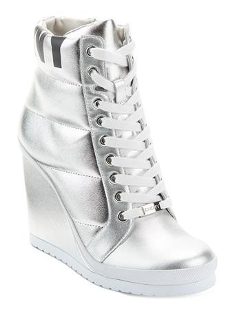 DKNY - Noho Wedge Sneaker Boot SILVER