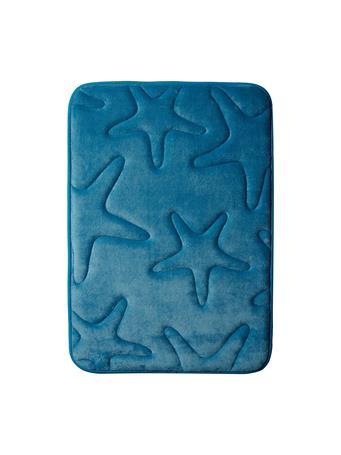 DELUXE - Memory Foam Bath Mat BLUE