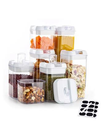 AIR TIGHT - 7 Piece Food Storage Container Set WHITE