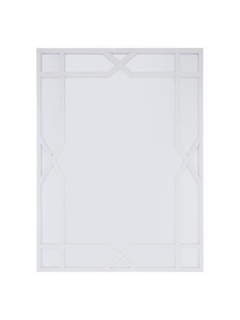 Mirror With Windowpane Border WHITE