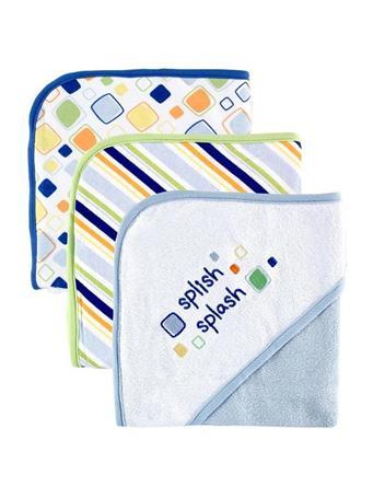 BABYVISION INC. - Hooded 3Pk Towel Boy Blue No Color