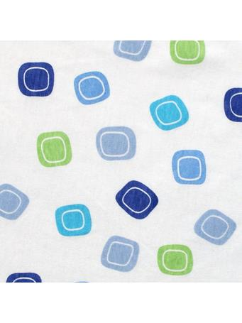 LUVABLE FRIENDS - Fitted Knit Crib Sheet, Blue Geometric BLUE