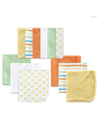 LUVABLE FRIENDS - 12 Pack Wash Cloths - Yellow No Color