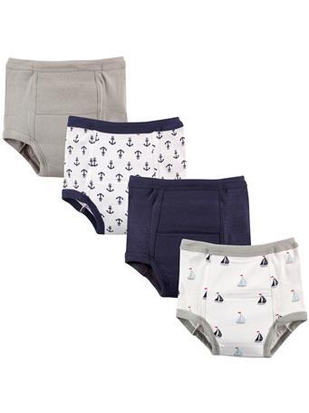 LUVABLE FRIENDS - 4 Pack Training Pant Boy No Color