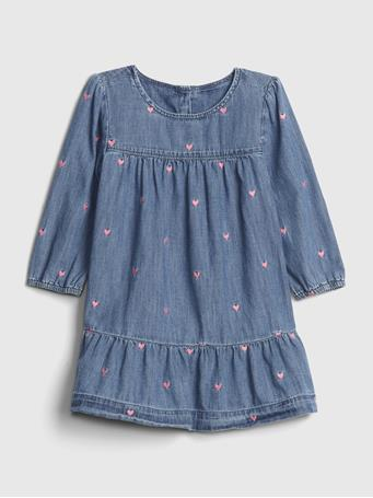 GAP - Toddler Denim Heart Dress HEARTS