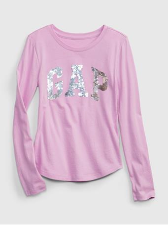 GAP - Kids Gap Logo Flippy Sequin Graphic T-Shirt PURPLE ROSE
