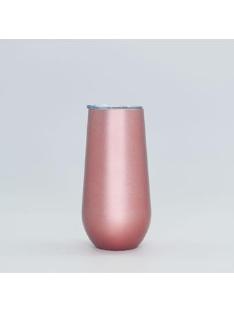 32°N - Stainless Steel Vacuum Insulated 6oz Champagne Tumbler with Lid ROSE GOLD