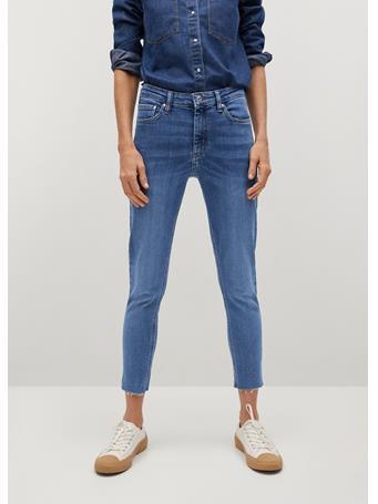MANGO - Crop Skinny Isa Jeans MEDIUM BLUE