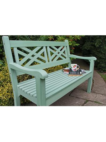 WINAWOOD - Speyside 2 Seater Wood Effect Bench DUCK EGG GREEN
