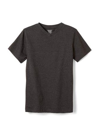 FRENCH TOAST - Short Sleeve V-Neck Tee Charcoal Grey CHARCOAL
