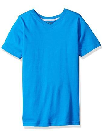 FRENCH TOAST - Short Sleeve V-Neck Tee Blue BLUE