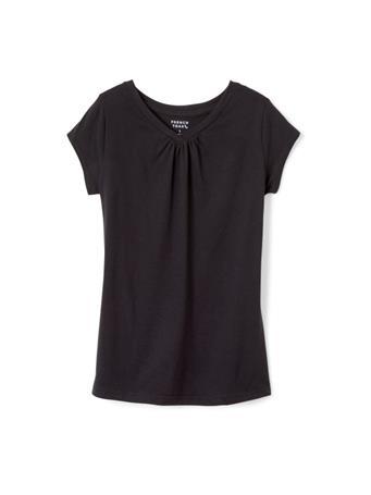 FRENCH TOAST - Short Sleeve V Neck Tee Black BLACK