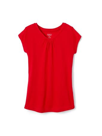 FRENCH TOAST - Short Sleeve V Neck Tee Red RED
