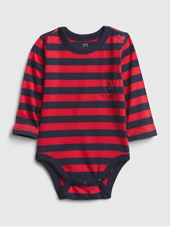 GAP - Baby Mix and Match Stripe Bodysuit MODERN RED