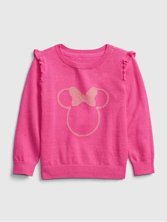 GAP - babyGap | Disney Minnie Mouse Crewneck Ruffle Sweater MINNIE MOUSE