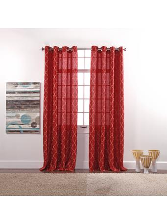 STYLEMASTER - Hudson Embroidered Faux Silk Panel CRIMSON
