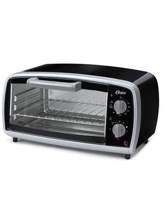 OSTER - 4 Slice Toaster Oven - Manual BLACK