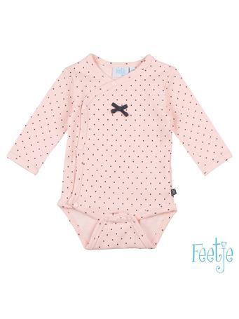 FEETJE - DOTS Allover Print Side-Snap Bodysuit PINK