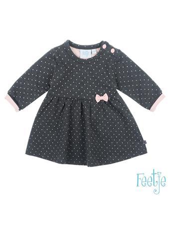 FEETJE - DOTS Allover Print Knit Dress - A Keepsake GREY