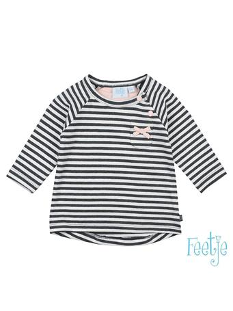 FEETJE - DOTS Stripe Long Sleeve Top GREY