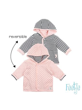 FEETJE - DOTS Reversible Jacket with Hood PINK