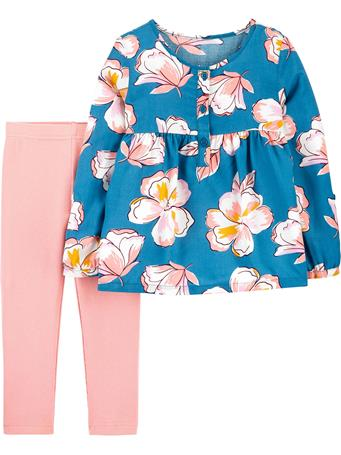 CARTER'S - 2-Piece Floral Poplin Top & Legging Set NOVELTY