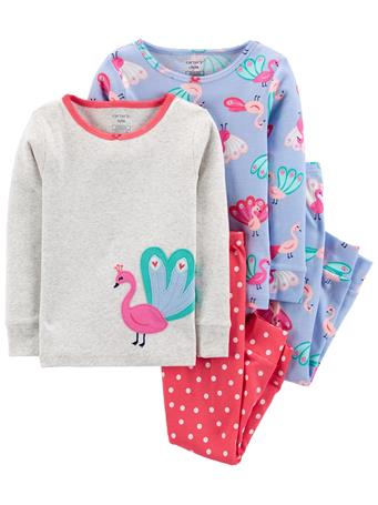 CARTER'S - 4-Piece 100% Snug Fit Cotton PJs NOVELTY