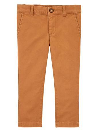 CARTER'S - Flat-Front Chino Pants KHAKI