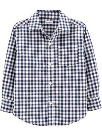 CARTER'S - Gingham Poplin Button-Front Shirt NOVELTY