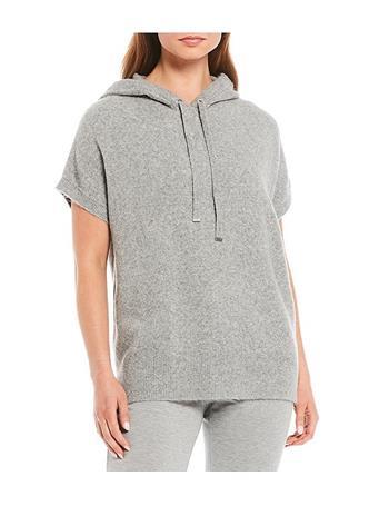 CALVIN KLEIN - Short Sleeve Hood Sweater Drawstring HEG