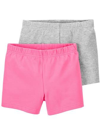 CARTER'S - 2-Pack Tumbling Shorts PINK