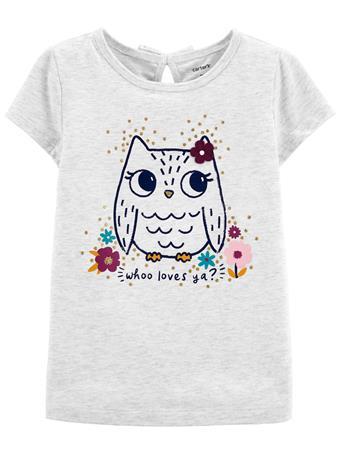 CARTER'S - Owl Jersey Tee GREY