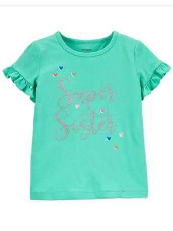CARTER'S - Super Sister Jersey Tee GREEN