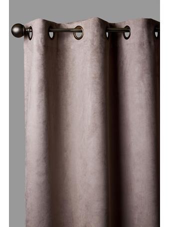 Eden & West – Benson Faux Linen Blackout Grommet Window Panel SILVER