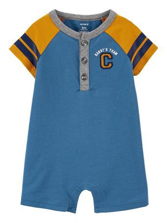 CARTER'S - Varsity Jersey Romper BLUE