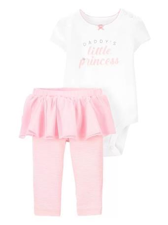 CARTER'S - 2-Piece Princess Bodysuit & Tutu Pant Set NOVELTY