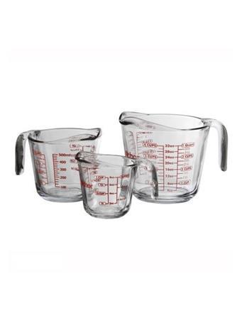 ANCHOR HOCKING - Glass Open-Handle Measuring Cup, 3 Piece Set No Color